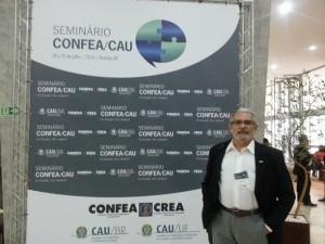 Presidente do CAU/BA, Guivaldo D'Alexandria, no CONFEA/CAU