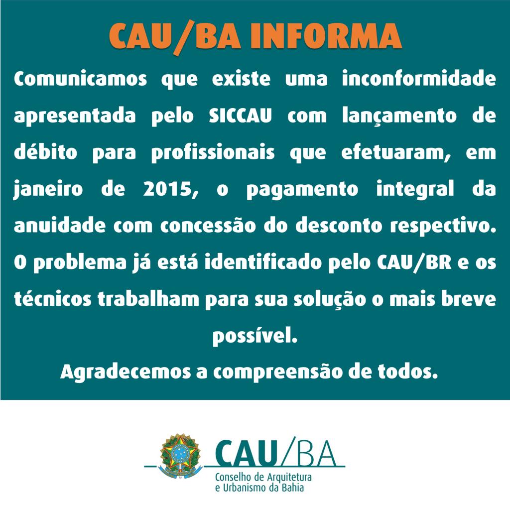 Informativo sobre SICCAU