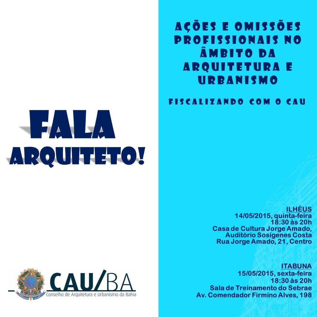 Evento Fala Arquiteto em Ilhéus e Itabuna