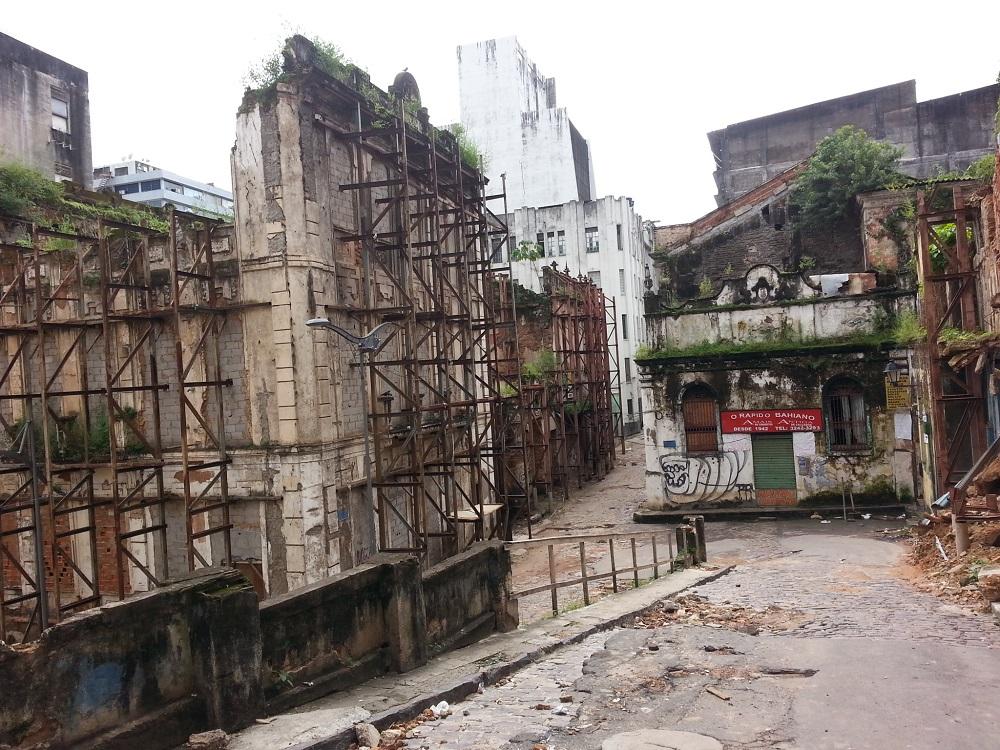 Centro histórico degradado