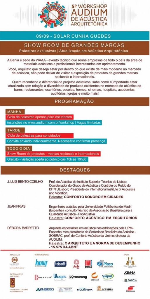 5º Workshop de Acústica Arquitetônica