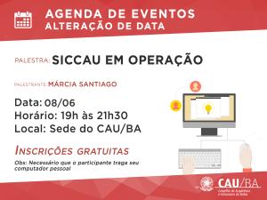 Agenda de Eventos CAU_siccau