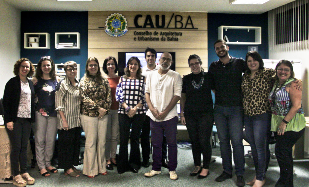 Registro do encontro de coordenadores de curso de arquitetura e urbanismo do estado da bahia.